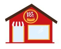 Hot dog restauracja Zdjęcia Royalty Free
