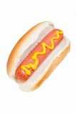 Hot dog roll isolated on white Royalty Free Stock Photography