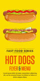 Hot dog sale flyer. Royalty Free Stock Images