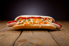 Hot dog savoureux Photos libres de droits