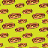 Hot dog seamless texture. Stock Photo