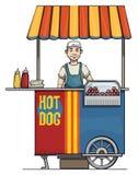 Hot dog seller Royalty Free Stock Photography