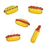 Hot dog set. Vector Royalty Free Stock Image