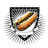 Hot dog shield Royalty Free Stock Photo
