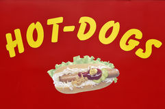 Hot-dog sign Royalty Free Stock Photos
