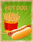 Hot Dog Sign Royalty Free Stock Photos