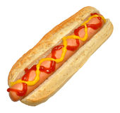 Hot-dog simple d'isolement sur le blanc Images stock