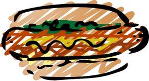 Hot dog sketch Stock Image