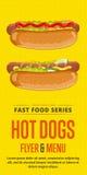 Hot dog sprzedaży ulotka Obrazy Royalty Free