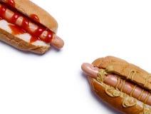 Hot dog squisito Fotografie Stock Libere da Diritti