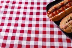 Hot dog squisito Fotografia Stock Libera da Diritti