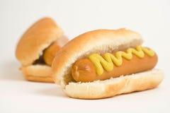 Hot dog squisito degli alimenti a rapida preparazione Fotografia Stock Libera da Diritti