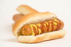 Hot dog squisito degli alimenti a rapida preparazione Fotografie Stock