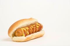 Hot dog squisito degli alimenti a rapida preparazione Immagini Stock