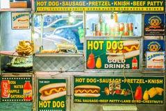 Hot dog stand background New York Manhattan NYC