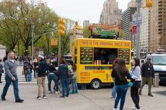 Hot Dog stojak Zdjęcia Royalty Free