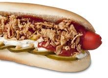 Hot dog stuffed traditionally danish Royalty Free Stock Photography