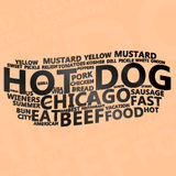Hot Dog Text Cloud Stock Photos