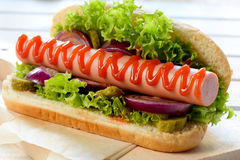 Hot dog time Royalty Free Stock Images