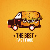 Hot - dog truck. Royalty Free Stock Images