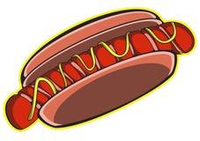 Hot Dog Vector Art. Vector Art of Hot Dog vector illustration