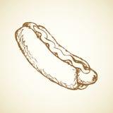 Hot Dog. Vector drawing Stock Photography