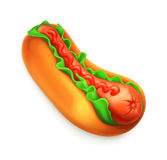 Hot dog vector icon Royalty Free Stock Photography