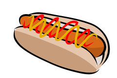 Hot dog vector Stock Photos