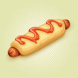 Hot dog vector illustration Royalty Free Stock Photography