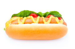 Hot dog with vegetables Royalty Free Stock Photography