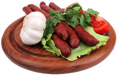 Hot dog and vegetables Royalty Free Stock Images