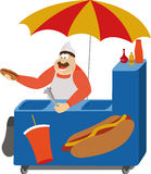 Hot dog vendor Royalty Free Stock Image