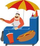 Hot dog vendor Royalty Free Stock Image