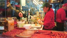 Hot dog a Vienna, Austria video d archivio
