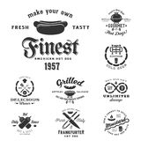 Hot Dog Vintage Typography Labels and Design Stock Images