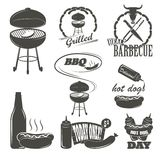 Hot Dog Vintage Typography Labels and Design Stock Photo