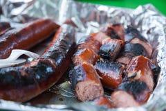 Hot Dog w folii obrazy royalty free