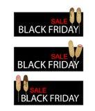 Hot Dog Waffles on Black Friday Sale Banner Stock Photo