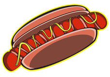 Hot Dog wektoru sztuka Fotografia Stock