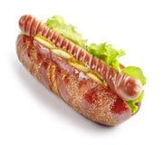 Hot dog on white background Royalty Free Stock Photo