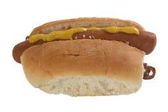 Hot Dog on white Royalty Free Stock Photography
