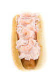 Hot Dog With Shrimp Salad Stock Photo