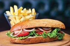 Hot Dog z Frankfurt kiełbasą Zdjęcia Stock