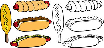Hot-dogs Images libres de droits