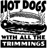 Hot dogs illustration stock