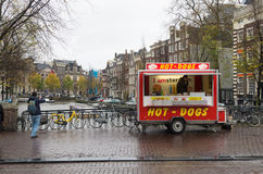 Hot-dogs in amsterdam Stock Images