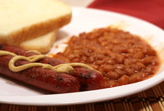 Hot Dogs And Beans Royalty Free Stock Photo