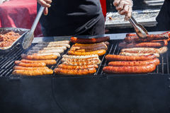 Hot Dogs Bratwurst and Sausages Royalty Free Stock Photography