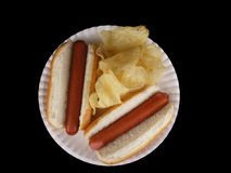 Hot Dogs & Chips 1 Royalty Free Stock Photo