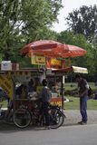 Hot dogs in city park in Amsterdam,Netherlands Royalty Free Stock Photos